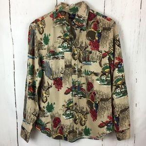 L.L Bean | Hunters Flannel Button Down Top
